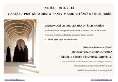 Velikonoční liturgická hra o třech Mariích - pozvánka